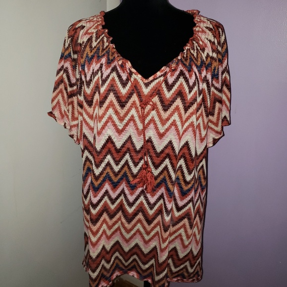 eb7cfabd1a370 Faded Glory Tops - Faded Glory orange and brown top. Size 4X